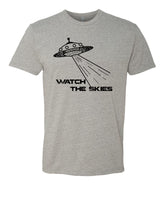 Watch the skies - T-Shirt - Men - Gray