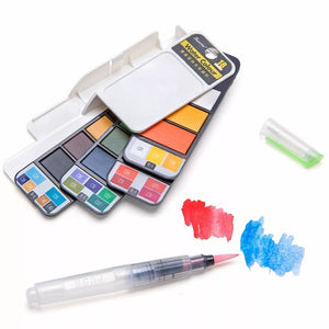 Foldable Water Color Paint Set With Brush Pen