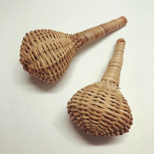 Hand Woven Elephant Reed Cane Rattle