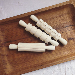 Wooden Dough Patterned Rollers- set of 3