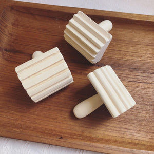 Wooden Dough Stampers with Handles- Set of 3