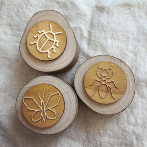 Wooden Tree Stamp Set of 3