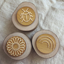Load image into Gallery viewer, Wooden Tree Stamp Set of 3