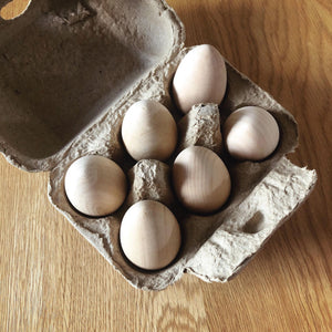 Wooden Eggs- Set of 6