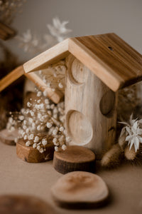 Wooden Fairy Houses- Set of 4