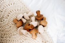 Load image into Gallery viewer, Wooden Mushrooms- Set of 10