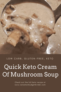 Keto Cream Of Mushroom Soup On The Table In 30 minute