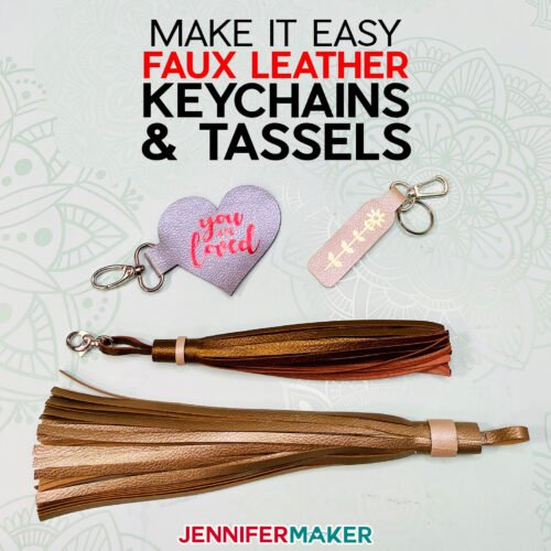 Learn how to make easy faux leather keychains and tassels … you can even personalize them!