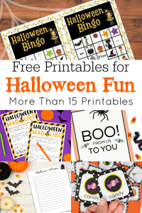 Getting ready for Halloween? Now is a good time to check out these great Halloween free printables