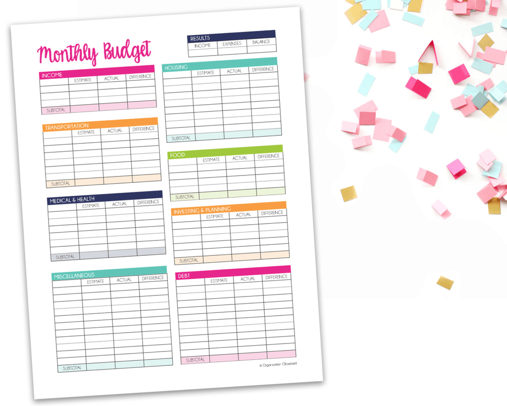 Are you wondering where all of your money is going each month? Or do you know that you need to use a budget, but you just haven't found the perfect one for you yet? Look no further, because our monthly budget template is exactly what you need to...