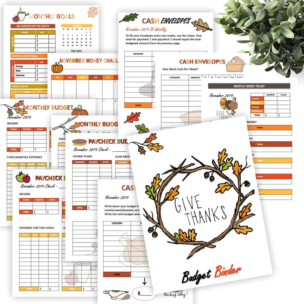 If you are a subscriber to our newsletter the November Monthly Budgeting Sheets are here and ready to download and print!