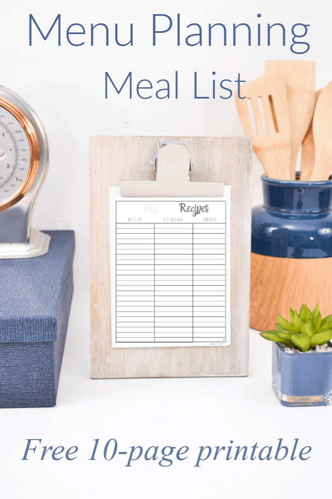 Use this list of meals for dinner template to make your meal planning easy and more comprehensive