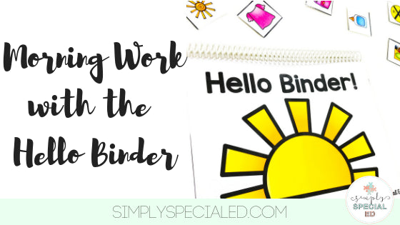 The Hello Binder is the perfect way to start your morning! Do you have students who trickle in making a slow start to your morning? Students who need to work on personal information? Need independent activities to fill parts of your day? Read on...