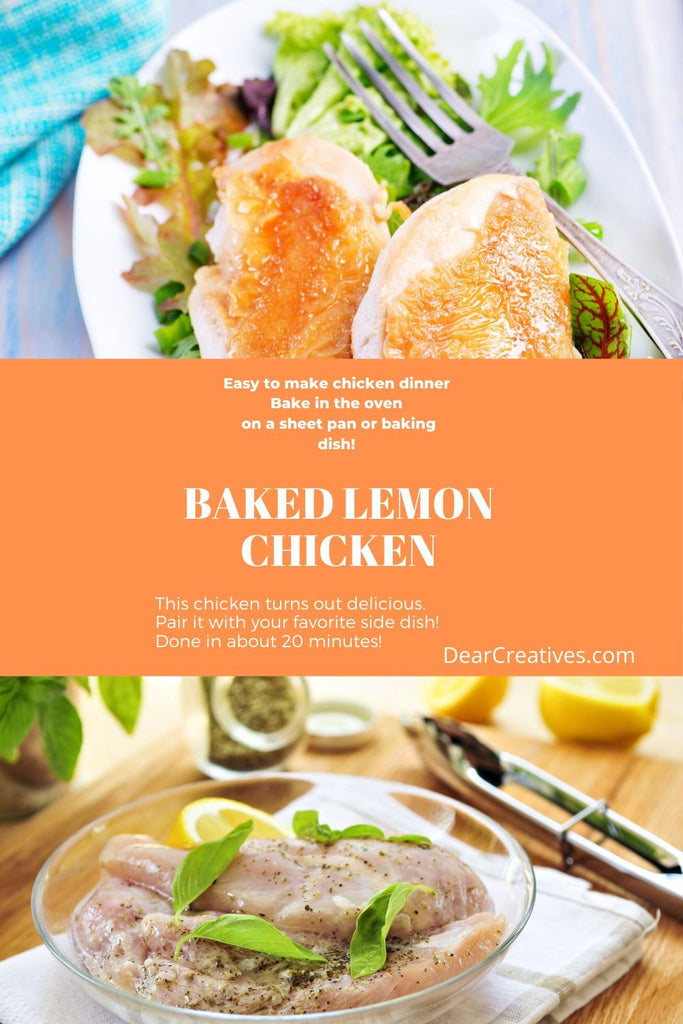 Are you looking for an easy, yet delicious recipe? This lemon baked chicken is so easy to make, then bake in the oven