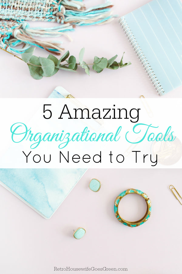 Are you feeling stressed and overwhelmed? These organizational tools can help you get your life organized and help you keep up with things without so much stress.