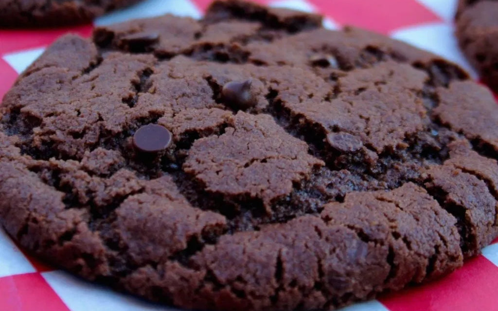 This double chocolate chip cookie is super chocolatey, sweet, gooey and everything a treat should be