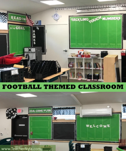 This post is a growing listing of Football Themed Classroom Ideas that are perfect for an elementary classroom or middle school classroom.  An American Football theme is all about teamwork, co-operation, and goal setting