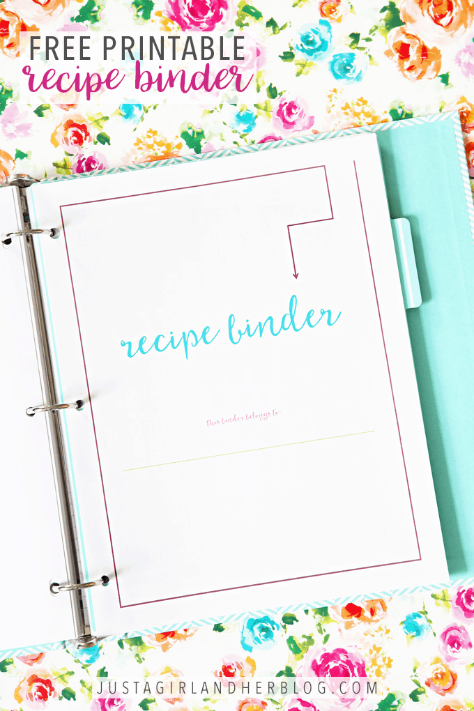 This free printable recipe binder will help you organize your favorite recipes all in one place so you can always find the one you're looking for! I confess, I used to dread meal planning time