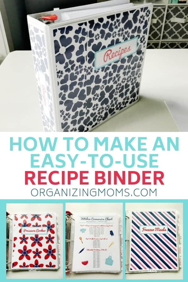 Using a recipe binder can help you organize all of your favorite recipes together in one place