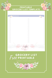 Are you looking for a printable grocery list? If you are new here I am teaching myself, Illustrator