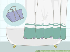 How to Keep a Shower Curtain from Blowing in