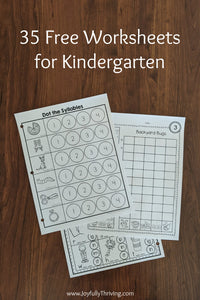 Are you looking for free Kindergarten worksheets for your Kindergartener? If so, here are 35 free worksheets for Kindergarten that you can print and use right away!