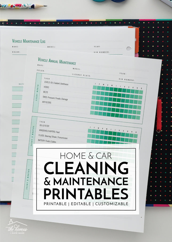 Happy Toolbox Tuesday, everyone! After taking a break from The Family HUB in March, this month's we're getting back to it with not one but two highly-requested sets of printables: Cleaning & Maintenance and Vehicles