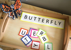 Printable Creepy Crawly Words & Letters