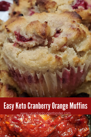Easy Keto Cranberry Orange Muffins