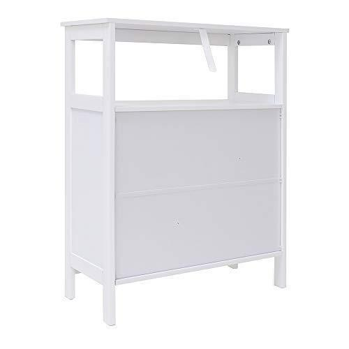 Purchase iwell bathroom floor storage cabinet with 1 adjustable shelf 3 heights available free standing kitchen cupboard wooden storage cabinet with 2 doors office furniture white ysg002b