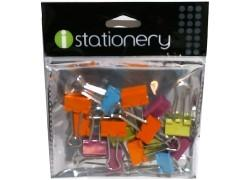 15 pc.19mm.Binder Clips Neon Colors