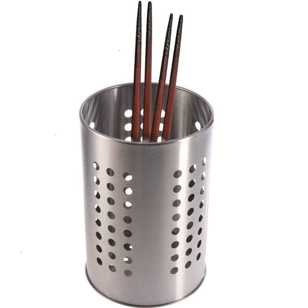 "kitchen Utensil Holder, 7"" Stainless Steel Cooking Silverware Storage Stand Flatware Organizer Stovetop Drying Caddy"