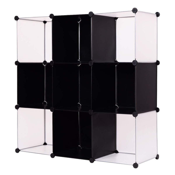 Cheap tangkula cube storage organizer 9 cube bookshelf diy plastic closet cabinet modular bookcase storage shelving for bedroom living room office 43 5l x 14 6 w x 43 5h