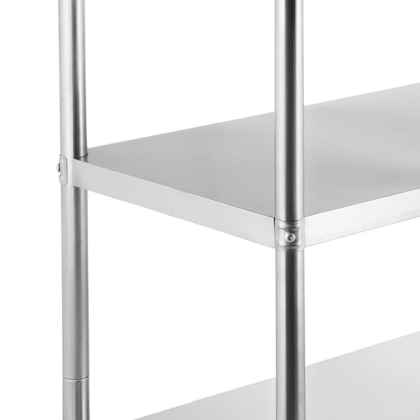 Best seller  happybuy stainless steel shelving units heavy duty 4 tier shelving units and storage shelf unit for kitchen commercial office garage storage 4 tier 400lb per shelf