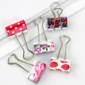 "24Pcs 3/4"" Wide Universal Binder Clips Colorful Paper Binder Clips"