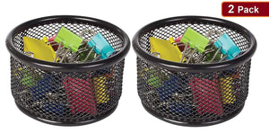 1InTheOffice Mesh Paper Clip Holder (2 Pack)