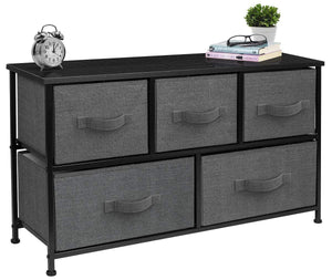 The best sorbus dresser with drawers furniture storage tower unit for bedroom hallway closet office organization steel frame wood top easy pull fabric bins 5 drawer black charcoal