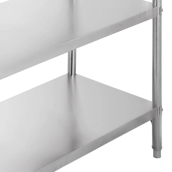 Best happybuy stainless steel shelving units heavy duty 4 tier shelving units and storage shelf unit for kitchen commercial office garage storage 4 tier 400lb per shelf