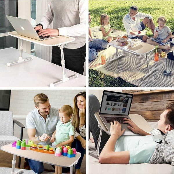Select nice laptop lap desk foldable laptop table stand height adjustable laptop desk for bed and sofa portable lap desk bed tray table office standing desk riser computer desk drafting table