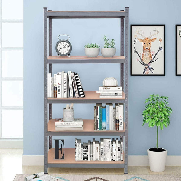 Shop tangkula 72 storage shelves heavy duty steel frame 5 tier garage shelf metal multi use storage shelving unit for home office dormitory garage