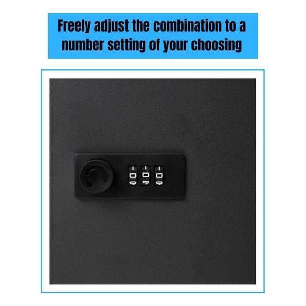 Save on houseables key lock box lockbox cabinet wall mount safe 7 9 w x 9 9 l 48 tags black metal combination code locker storage organizer outdoor keybox closet for realtor real estate office