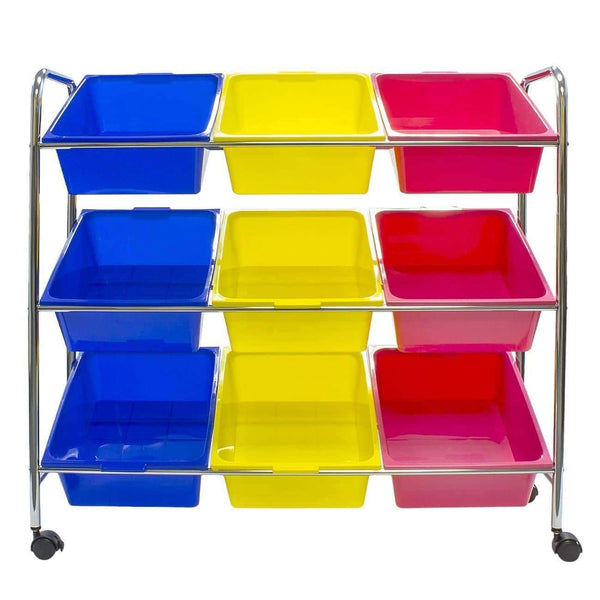 Best seller  sorbus toy bins office supply organizer on wheels plastic storage cart with removable bins ideal for toys books crafts office supplies and much more primary colors