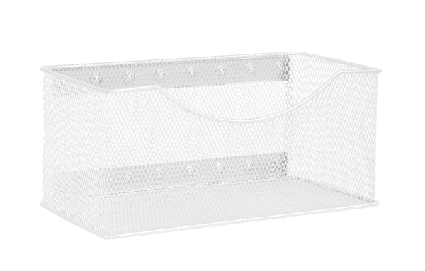Products ybm home mesh magnetic storage basket organizer with extra strong magnets holds your whiteboard and locker accessories perfect as marker and pencil holder for office 1 large white