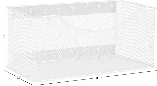 Purchase ybm home mesh magnetic storage basket organizer with extra strong magnets holds your whiteboard and locker accessories perfect as marker and pencil holder for office 1 large white
