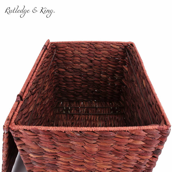 Budget seagrass rolling file cabinet home filing cabinet hanging file organizer home and office wicker file cabinet water hyacinth storage basket for file storage russet brown