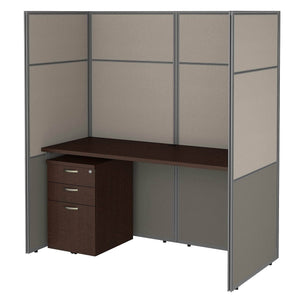 Related bush business furniture eodh26smr 03k easy office cubicle desk with file cabinet and 66h closed panels workstation 60wx60h mocha cherry