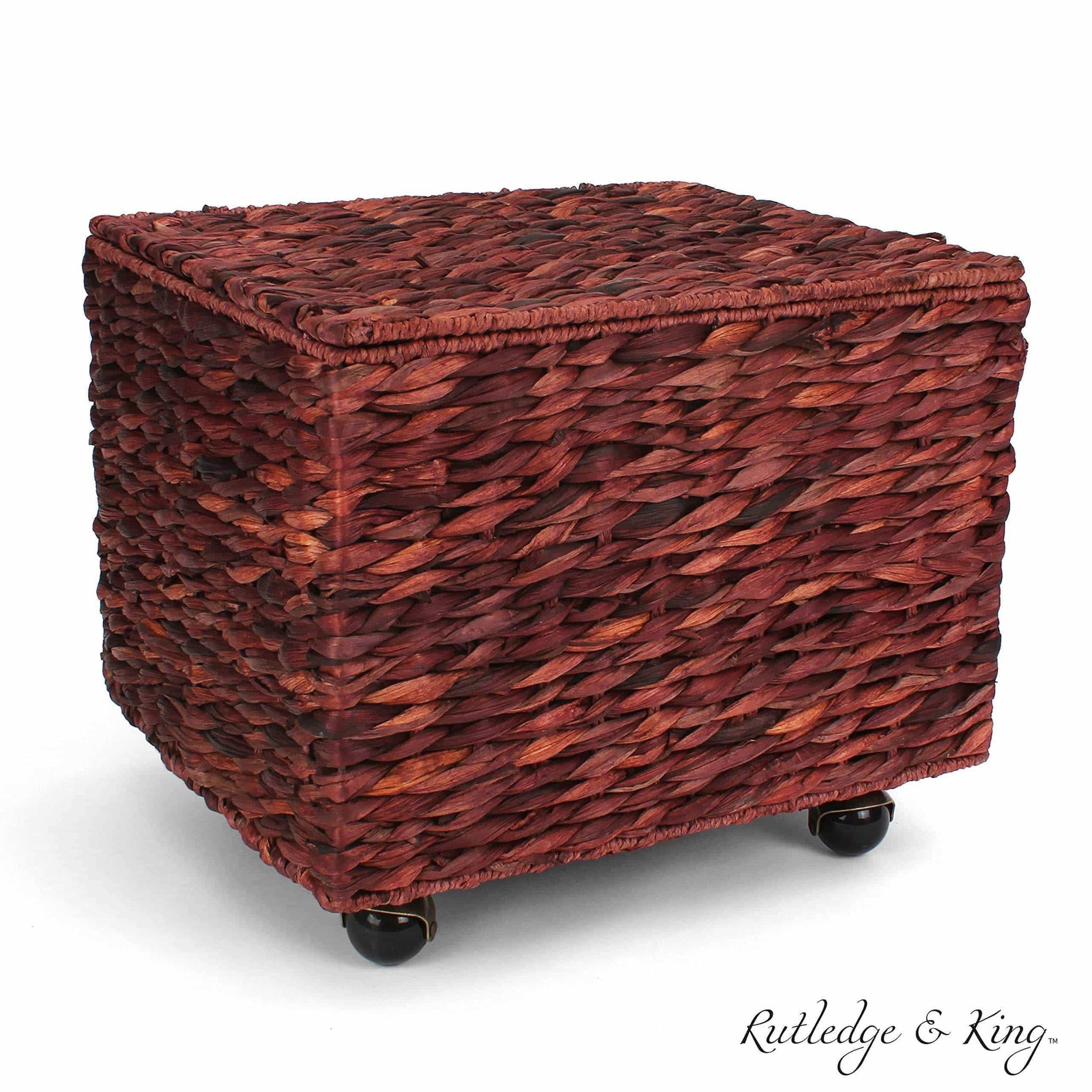 Amazon seagrass rolling file cabinet home filing cabinet hanging file organizer home and office wicker file cabinet water hyacinth storage basket for file storage russet brown