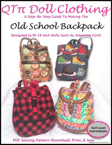 "Old School Backpack 18"" Doll Accessories"