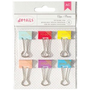 Gold Foil binder clips