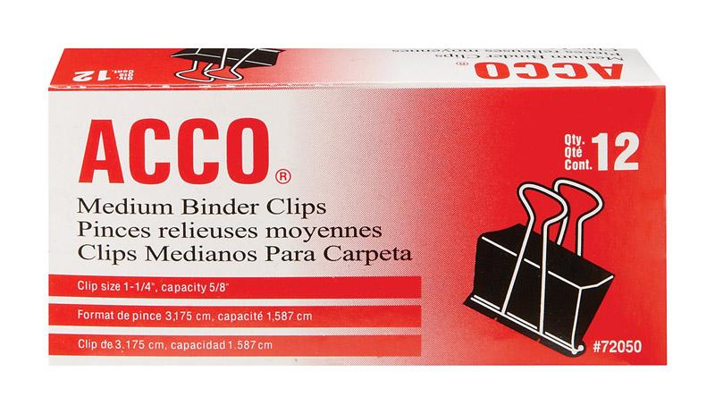 Acco Binder Clips 5/8 In.